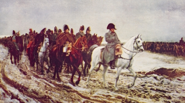 Napoleon Retreating from Moscow in 1812 ~ The History Channel