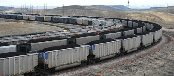 Rail Cars loaded with Coal